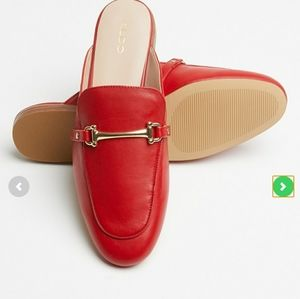 ALDO👡 round toe flat slip-on sandal, in red